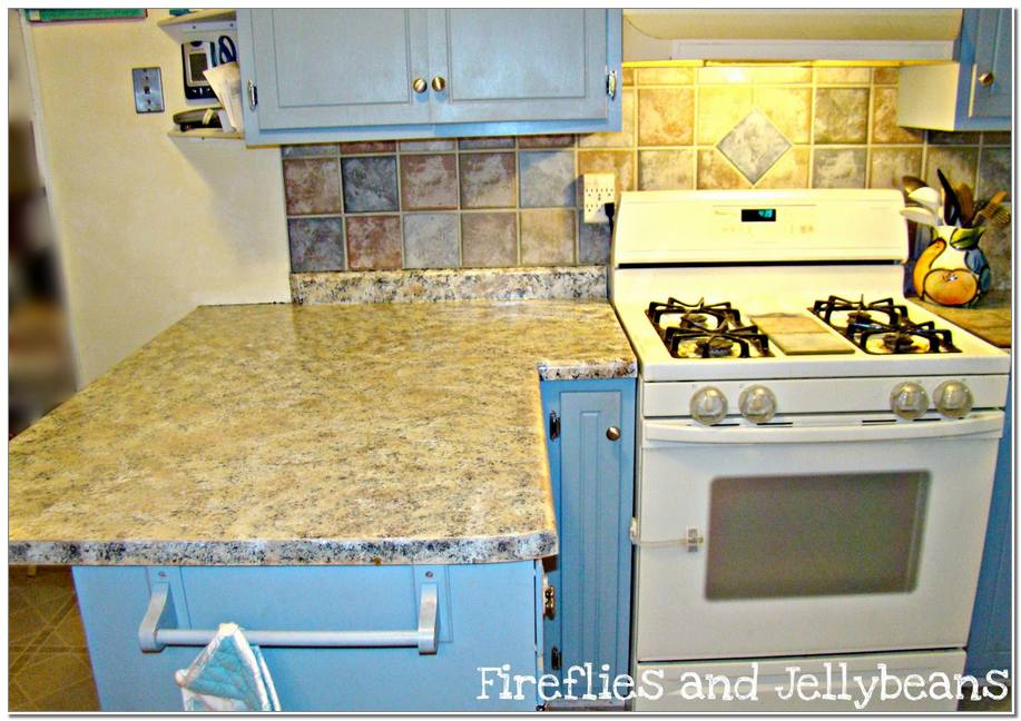 Countertops and a Kitchen Cabinet Painting Project Redo Diy