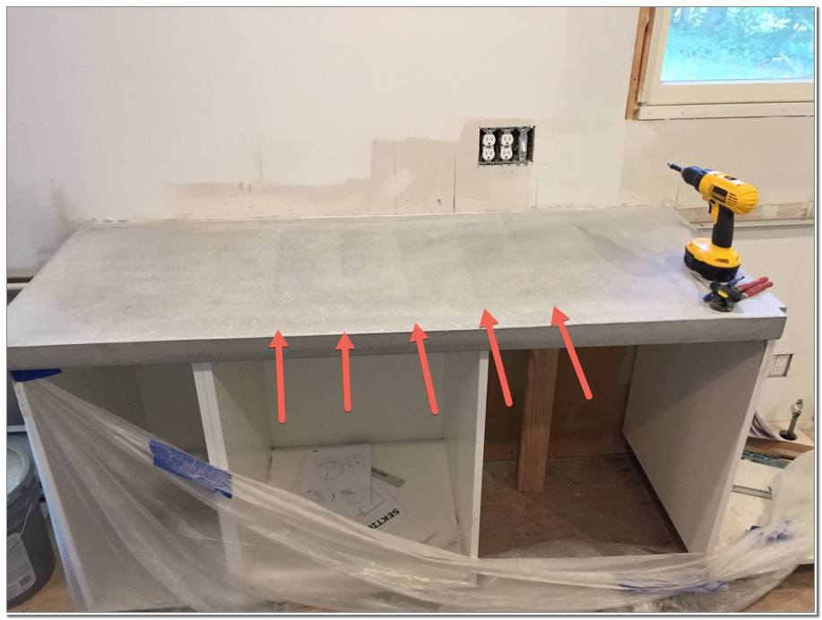 DIY Pour in Place Countertops Concrete Home Depot